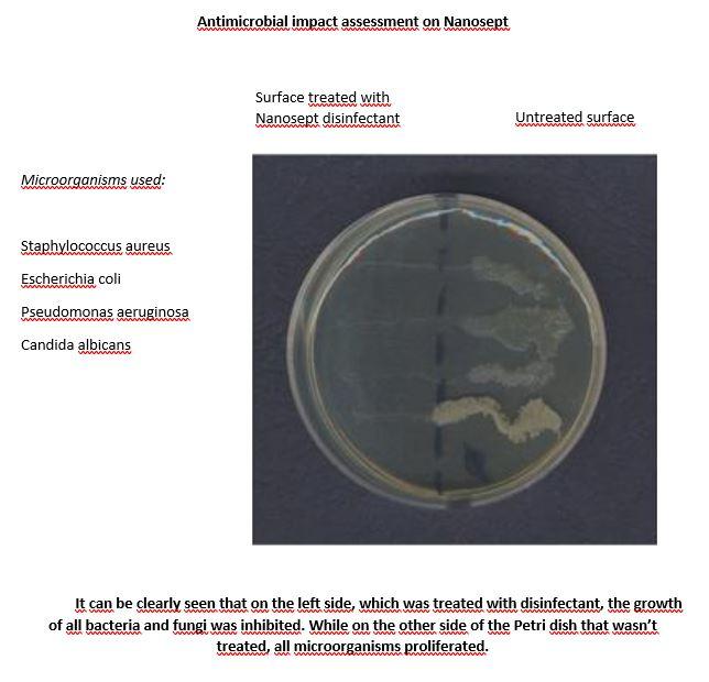 A Nanosept antibakteriális hatása